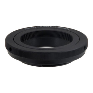 Fotodiox Lens Adapter - Compatible with T-Mount (T / T-2) Screw Mount SLR Lenses to Sony Alpha A-Mount (and Minolta AF) SLR Cameras