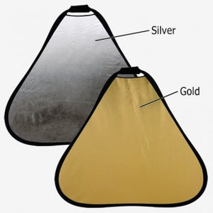 "Fotodiox 48"" 2-in-1 Collapsible Teardrop Reflector Disc - Silver / Gold"