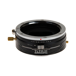 Fotodiox Pro TLT ROKR - Tilt / Shift Lens Mount Adapter for Canon EOS (EF) D/SLR Lenses to Fujifilm Fuji X-Series Mirrorless Camera Body
