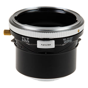 Fotodiox Pro TLT ROKR - Tilt / Shift Lens Mount Adapter for Pentacon 6 (Kiev 66) SLR Lenses to Fujifilm Fuji X-Series Mirrorless Camera Body