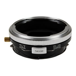 Fotodiox Pro TLT ROKR - Tilt / Shift Lens Mount Adapter for Pentacon 6 (Kiev 66) SLR Lenses to to Nikon F Mount SLR Camera Body