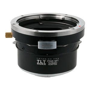 Fotodiox Pro TLT ROKR - Tilt / Shift Lens Mount Adapter for Pentax 645 (P645) Mount SLR Lenses to Micro Four Thirds (MFT, M4/3) Mount Mirrorless Camera Body