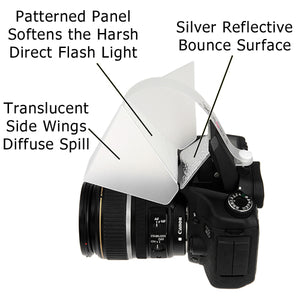 Fotodiox Pop-up Flash Diffuser with Harsh Light Minimizer - Universal Diffusion for DSLR On Camera Pop Up Flash: Canon, Nikon, Pentax, Sony