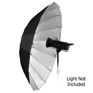 "Fotodiox Pro 16-rib, 60"" Black and Silver Reflective Parabolic Umbrella"