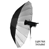 Fotodiox Pro 16-rib, Black and Silver Reflective Parabolic Umbrella