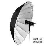 "Fotodiox Pro 16-rib, 72"" Black and Silver Reflective Parabolic Umbrella"
