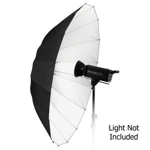 "Fotodiox Pro 16-rib, 60"" Black and White Reflective Parabolic Umbrella"