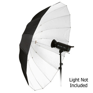 "Fotodiox Pro 16-rib, 72"" Black and White Reflective Parabolic Umbrella"