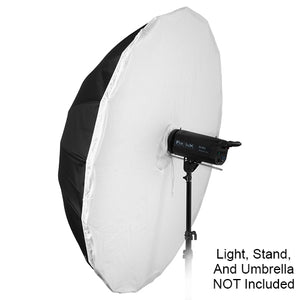 Diffusion Cover for Fotodiox 16-rib, Black/White or Black/Silver Parabolic Umbrellas - 60in (150cm) & 72in (180cm)