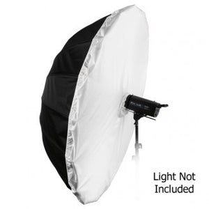 "Fotodiox Pro 16-rib, 72"" Black and White Reflective Parabolic Umbrella, with Diffusion Cover"