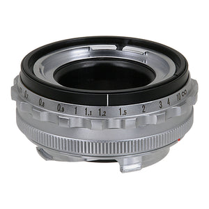 Fotodiox Pro Lens Mount Adapter - Voigtländer Nokton & Ultron 50mm Lenses to Leica M Mount Rangefinder Camera Body with Leica 6-Bit M-Coding and RF Coupled Focusing