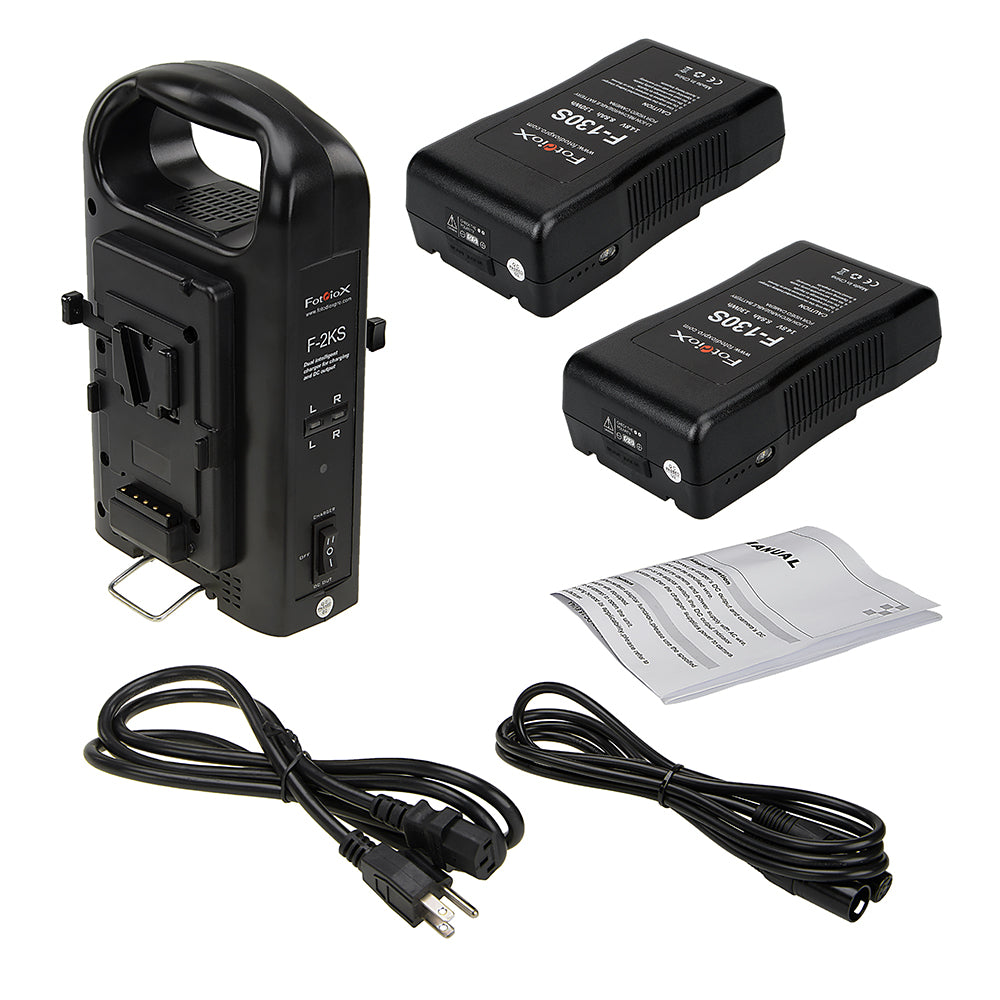 fotodiox dual position battery charger kit with two 14 8v li ion vfotodiox dual position battery charger kit with two 14 8v li ion v mount batteries power supply stand with xlr dc output for fotodiox pro,