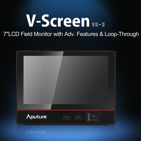 "Aputure V-Screen VS-3 - 7"" LCD IPS Field Monitor with Advanced Features & Loop-Through with Bonus Free Sunshade"