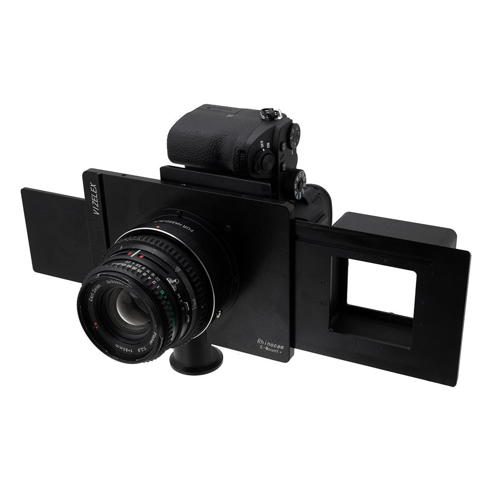 Vizelex RhinoCam+ Hasselblad V-Mount for Sony Alpha E-Mount Full Frame Mirrorless Camera Body - for Shift Stitching 645 and Panoramic Sized Images with Medium Format Lenses