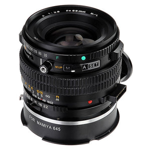 Mamiya 645 Mount Lens Adapter for VIZELEX RhinoCam MILC Systems (Sony E-Mount, Fujifilm Fuji X-Mount, Canon EF-M Mount versions) - Adapter Only