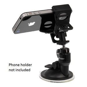 Fotodiox Windshield Suction Cup Mount with Ballhead - Mount for Smart Phone Clip, Cameras, DVs, GPS, Webcams