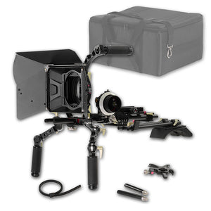 WonderRig Ultra by Fotodiox, Premium Grade Professional Video Rig, Shoulder Support Stabilizer, with Follow Focus, Matte Box and Filter Holders