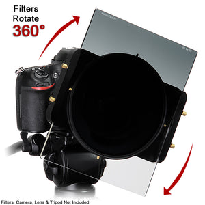 WonderPana Filter Holder for Panasonic Lumix G Vario 7-14mm f/4.0 Aspherical Lens (Micro Four Thirds Format) - Ultra Wide Angle Lens Filter Adapter