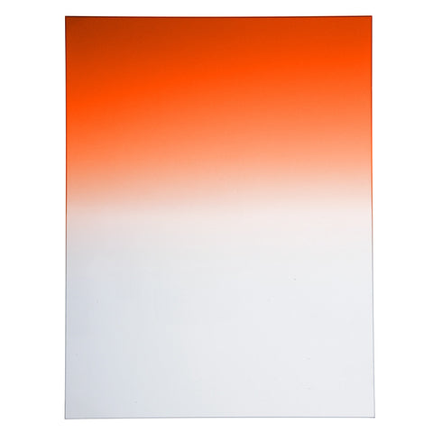"Fotodiox Pro 6.6""x8.5"" Sunset Orange Graduated Density .6 (2-Stop) Soft Edge Filter"