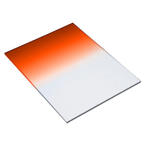"Fotodiox Pro 6.6x8.5"" Orange Colored Graduated Density .6 (2-Stop) Soft Edge Filter (works with WonderPana 66 Systems)"