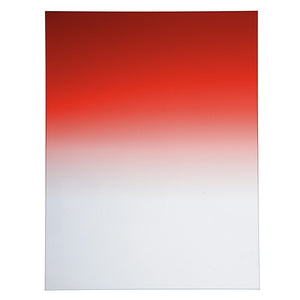 "Fotodiox Pro 6.6""x8.5"" Sunset Red Graduated Density .6 (2-Stop) Soft Edge Filter"