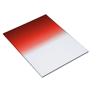 "Fotodiox Pro 6.6x8.5"" Red Colored Graduated Density .6 (2-Stop) Soft Edge Filter (works with WonderPana 66 Systems)"
