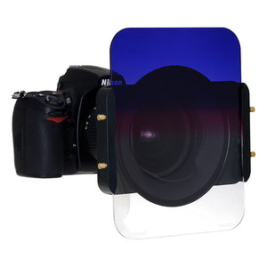 "Fotodiox Pro 6.6x8.5"" Twilight Effect Graduated 2-Color (Blue to Pink to Clear) Neutral Density Filter 0.6 (Grad-ND4, 2-Stop) Soft Edge Filter (works with WonderPana 66 & FreeArc Systems)"
