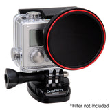 Fotodiox Pro WonderPana Go H3+ Filter Adapter - GoTough Filter Adapter System f/ GoPro HERO3+ and HERO4 Slimline Skeleton or Underwater Housing Case *Not for HERO3*