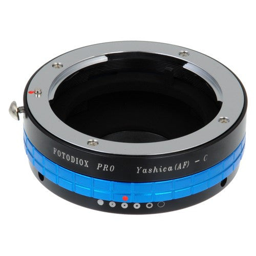 "Fotodiox Pro Lens Adapter Yashica 230 AF SLR Lens to C-Mount (1"" Screw Mount) Cine & CCTV Camera Body with Built-In Aperture Control Dial"