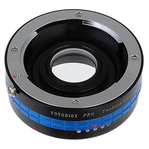 Fotodiox Pro Lens Mount Adapter - Yashica 230 AF SLR Lens to Canon EOS (EF, EF-S) Mount SLR Camera Body with Built-In Aperture Control Dial
