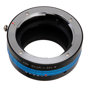 Fotodiox Pro Lens Mount Adapter - Yashica 230 AF SLR Lens to Canon EOS M (EF-M Mount) Mirrorless Camera Body with Built-In Aperture Control Dial