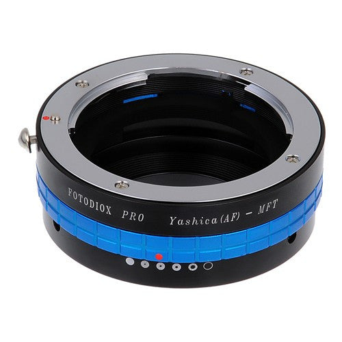 Fotodiox Pro Lens Mount Adapter - Yashica 230 AF SLR Lens to Micro Four Thirds (MFT, M4/3) Mount Mirrorless Camera Body, with Built-In Aperture Control Dial