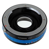 Fotodiox Pro Lens Mount Adapter - Yashica 230 AF SLR Lens to Nikon F Mount SLR Camera Body with Built-In Aperture Control Dial