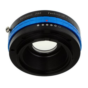 Fotodiox Pro Lens Mount Adapter - Yashica 230 AF SLR Lens to Sony Alpha A-Mount (and Minolta AF) Mount SLR Camera Body with Built-In Aperture Control Dial