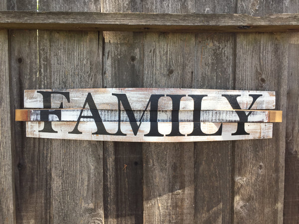 Family Oak Barrel Wall Hang