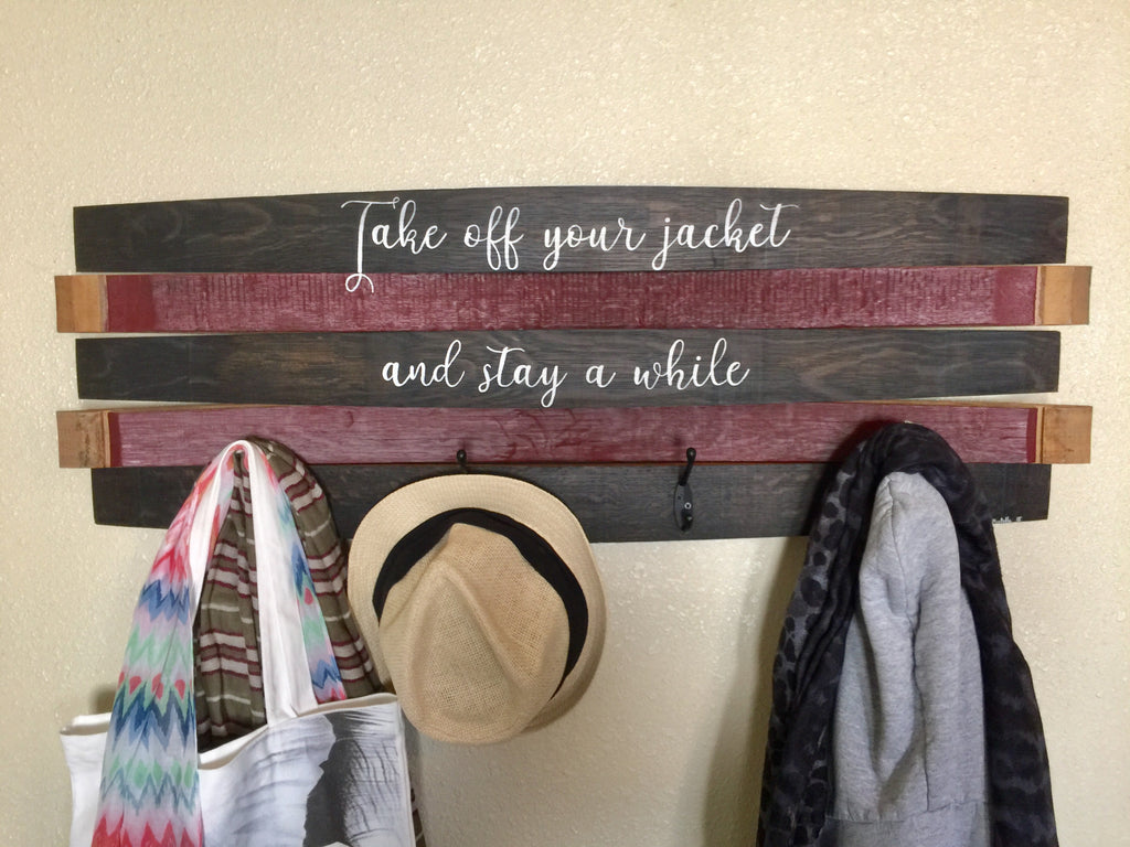Personalized Saying Coat Rack