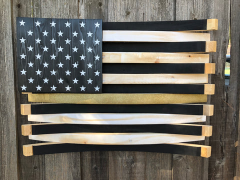 Pediatric Cancer Awareness American Flag