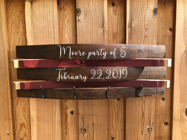 Custom Barrel Coat Rack