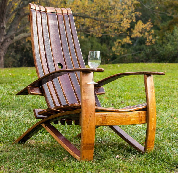 Adirondack Oak Barrel Chair