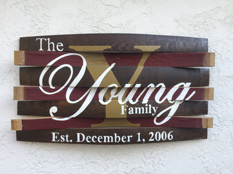 Family Name Wine Barrel Wall Hang