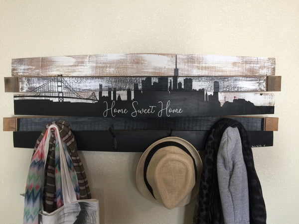 San Francisco Barrel Coat Rack