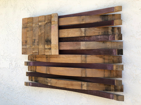 Wood Barrel Wall Art