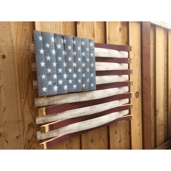 American Oak Barrel Flag