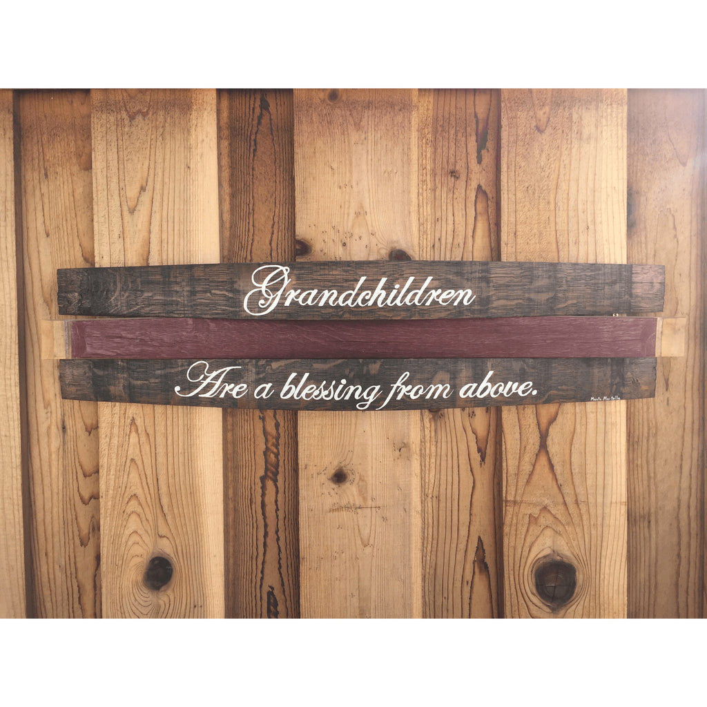Grandchildren Barrel Saying