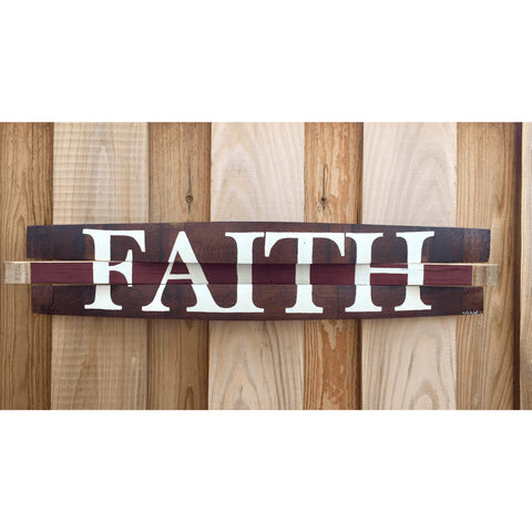 Faith Oak Barrel Sign