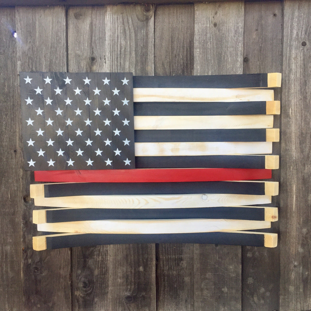 Thin Red Line American Barrel Flag