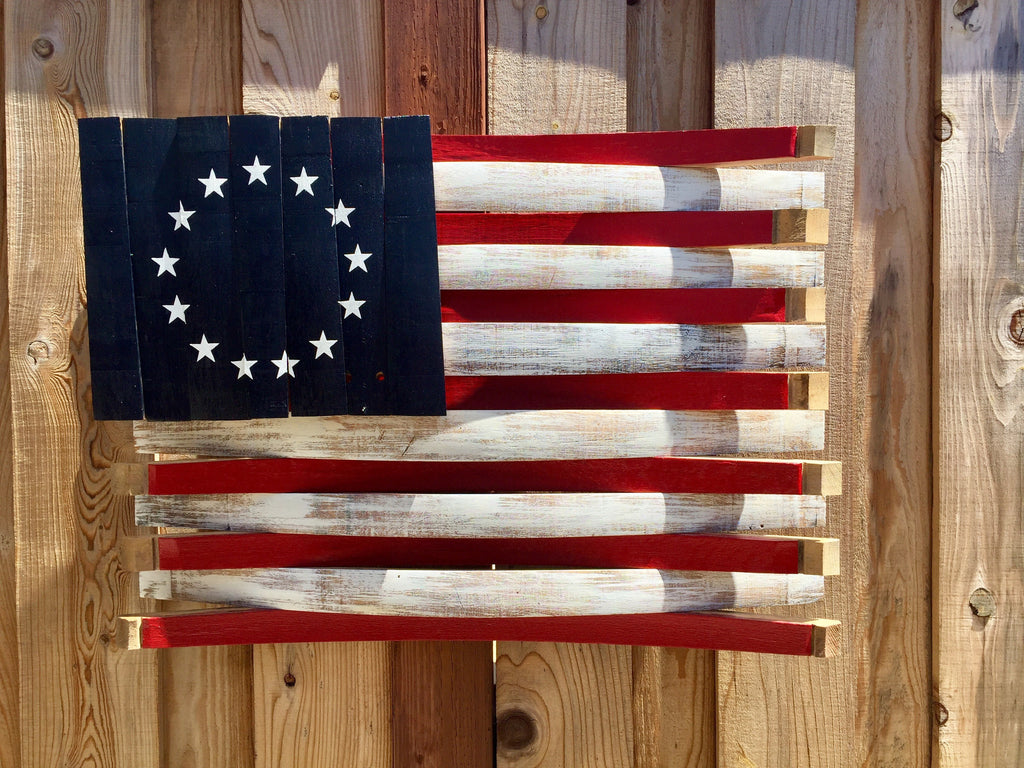 Old Glory Wine Barrel American Flag
