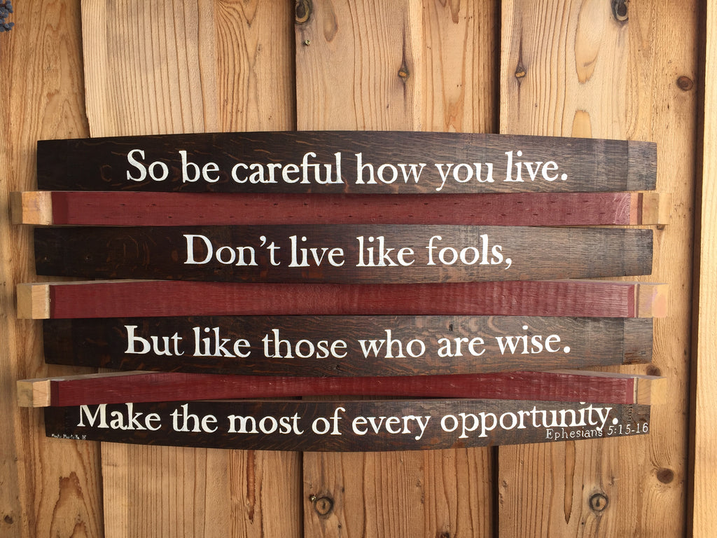 OakBarrel Bible Verse Sign