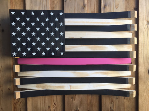 Breast Cancer Awareness American Flag