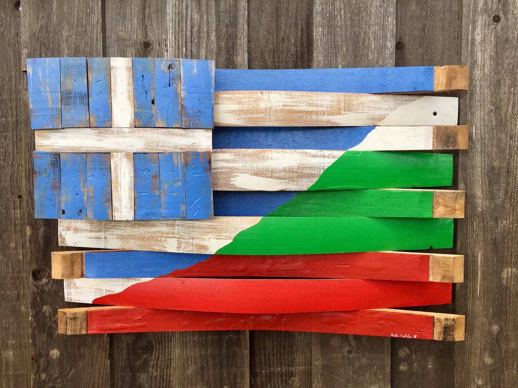 Greece / Bulgaria Barrel Flag